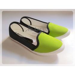 Giày vải búp bê nữ Thái Lan - SW056 - Màu Xanh lá