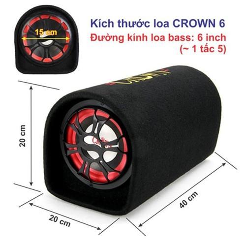 LOA CROWN 6 INCH NGHE THẺ NHỚ+ USB+ ĐIỆN THOẠI ÂM BASS MẠNH