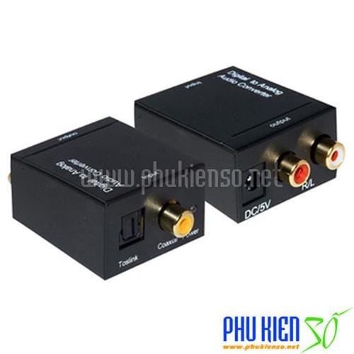 Bộ chuyển tín hiệu Optical sang Audio AV - Tặng cable Optical