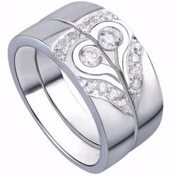 Nhẫn đôi nc406 trái tim đang yêu