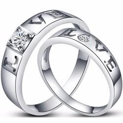 Nhẫn đôi nc107 tình yêu