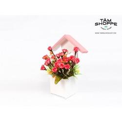 Nhà gỗ tình yêu Hoa hồng pháp