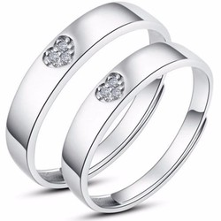 Nhẫn đôi nc110 trái tim đang yêu