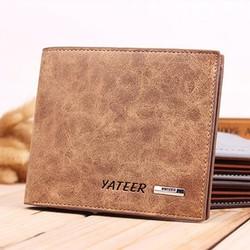 Ví da ngắn nam bóp đựng tiền da Yateer - VN01