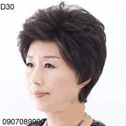 Tóc giả trung niên nữ tặng kèm lưới -- D30