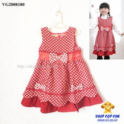 Đầm dạ màu đỏ hình tim size 5-13