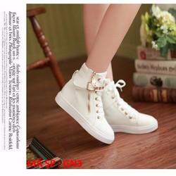 Giày sneaker nữ trắng cực đẹp - GN3