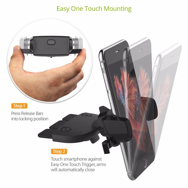 Giá treo gắn khe ổ CD - iOttie Easy One Touch Mini CD Slot Mount 3