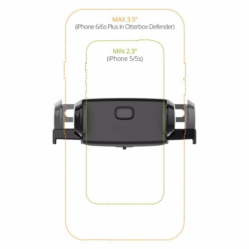 Giá treo gắn khe ổ CD - iOttie Easy One Touch Mini CD Slot Mount 5