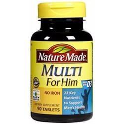 Vitamin tổng hợp Nature Made Multi For Him 90 viên