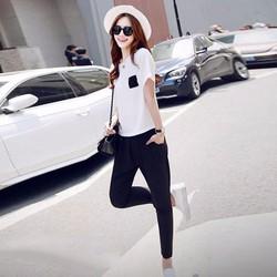 Set áo phối túi + quần dài fashion-11333