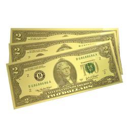 Combo 10 tờ tiền 2 Usd plastic 2 mặt