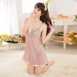 Đầm ngủ 2 dây phối ren ngực gợi cảm Mã SP: 8970