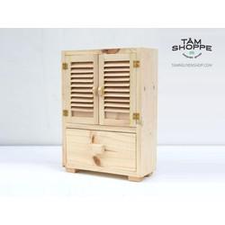 Tủ gỗ cửa xếp đựng nữ trang đồ trang điểm
