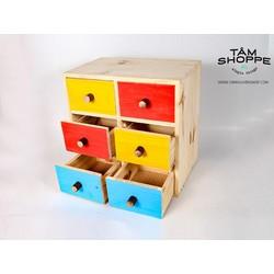 Tủ gỗ 6 ngăn màu Bigsize