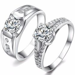 nhẫn đôi nc358 tình yêu vĩnh cửu