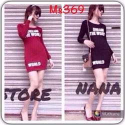 Đầm ôm in chữ - MS369