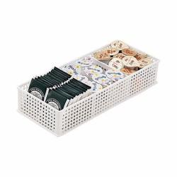 Khay đựng vật dụng chia ngăn dạng lưới màu trắng