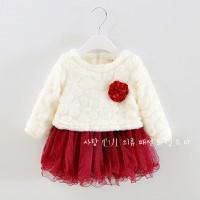 Đầm Thu Đông cao cấp Hàn Quốc cho bé gái V234