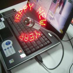 Quạt tạo chữ đèn led usb
