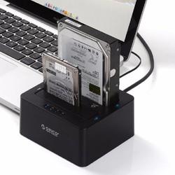 Thiết bị cắm nóng 2 ổ cứng, có chức năng Clone,  ORICO 6629US3-C