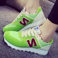 Giày thể thao chữ N da lộn