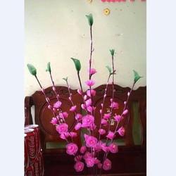 Hoa đào giả trang trí ngày tết