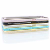 Viền kim loại cho điện thoại SAMSUNG S6 có đính cườm - Thu Vân