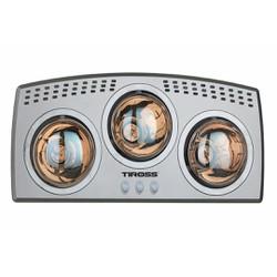 Đèn sưởi nhà tắm Tiross 3 bóng mạ vàng TS9292