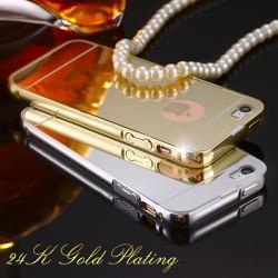 iPhone 5, iPhone 5s - Ốp lưng điện thoại viền kim loại, nắp lưng gương