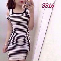 Đầm sọc ôm SS16