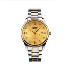 Đồng hồ nam Skmei SK063 Sang Trọng mặt vàng