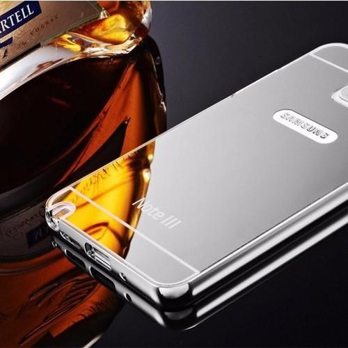 Samsung-Galaxy-Note 5 - Ốp điện thoại viền kim loại, nắp lưng gương