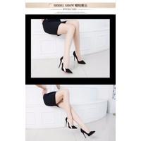 KT51 _ Giày cao gót đen vàng kim