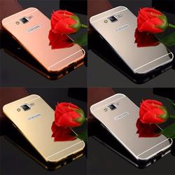 Samsung Galaxy E7 2015 - Ốp điện thoại viền kim loại, nắp lưng gương