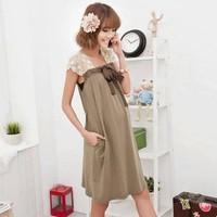 Váy Bầu Thun Tay Ren