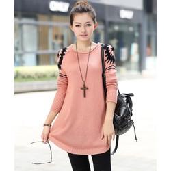 Áo len dệt kim dáng dài thời trang - AL0361