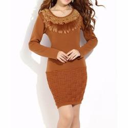 Đầm nữ dài tay thời trang, màu sắc đa dạng trẻ trung.