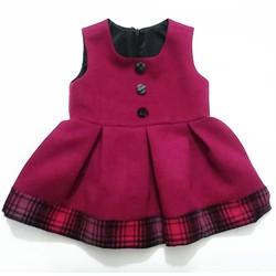Váy Dạ 2 lớp chất cực đẹp cho bé VDBG02S. 6 tháng đến 12 tháng