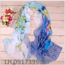 khăn choàng lụa dịu dàng quyến rũ phong cách hàn quốc mới L12309