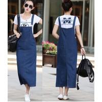 Váy yếm Jean dài