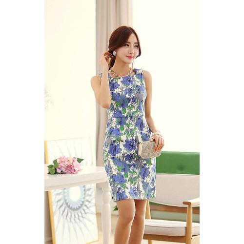 Đầm ôm hoa xinh điệu đà - Mã MM80230