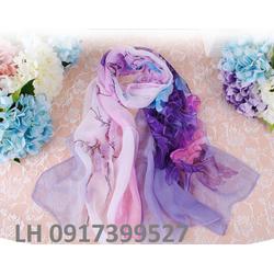 khăn choàng lụa họa tiết nhẹ nhàng thời trang công sở mới L12310