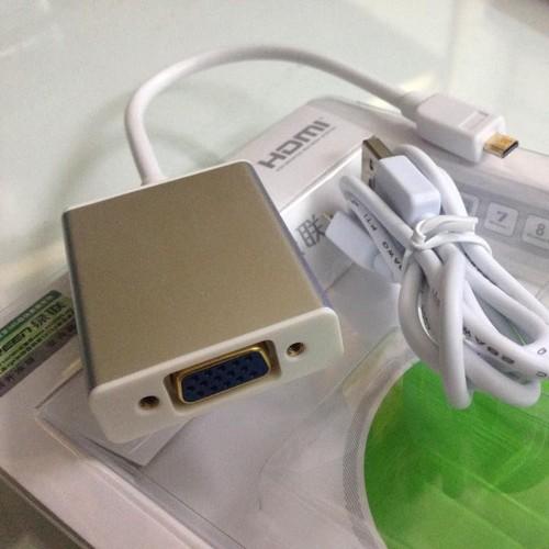 Dây chuyển đổi tín hiệu microHDMI ra VGA có audio Ugreen