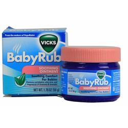 Dầu bôi ấm ngực giảm ho cho bé Vicks Baby Rub hộp 50g từ Mỹ