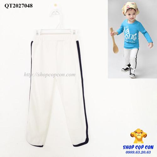 Quần dáng thể thao màu trắng size 100-140