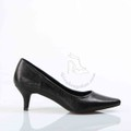 Giày cao gót chất da 5 phân màu đen