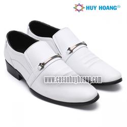 Giày nam Huy Hoàng Da Bò thật màu trắng TX_271