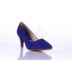 Giày cao gót da lộn 7 phân màu xanh coban cực hot