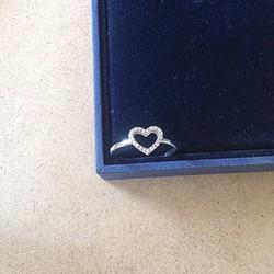 Nhẫn trái tim đính đá